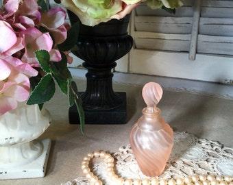 Elegant Vintage Pink Perfume Bottle in Excellent Vintage Condition Dresser/Boudoir/Collectible/Gift