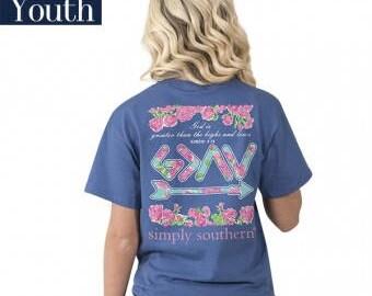 Simply Southern® YTH-PREPPYROMANS-MOONRISE