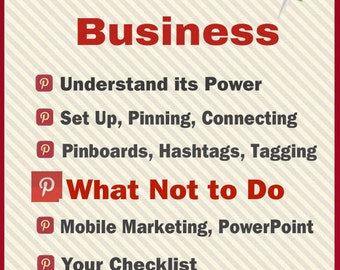 Pinterest for Business Social Media Ebook Guide for Etsy Sellers, Bloggers and Small Business Owners