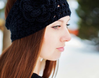 Instant Download - PDF PATTERN Crochet Anna Ski Headband Earwarmer  - Permission To Sell Finished Items