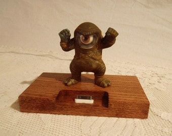 iPhone - iPod Dock -Charger and Sync Station - Oak -  Monster style with wiggly Eyeball - Scary - iPhone Dock iPod -Big Sale