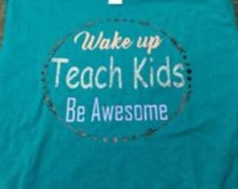 Teacher shirt vinyl