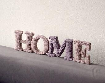 HOME Crochet Pattern, 3D Alphabet Crochet Pattern, 3d Words Crochet Pattern, 3d Letters Crochet Pattern, Crochet 3D Words Pattern