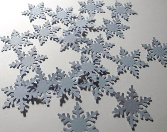 Papier cartonné flocon de neige confettis bleu clair poinçons-20 comte