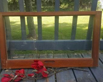 Vintage Wood Window, Window Frame, Single Pane Window,  One Pane Window, Farmhouse Window, Window Frame, DIY, Crafts, Wedding Decor 0135