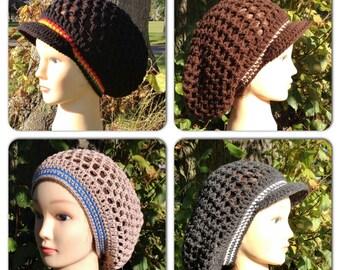 Mesh Slouchy Tam Crochet Pattern