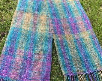 Handwoven scarf, woven scarf, scarf, sparkle scarf, lightweight scarf, handmade scarf, summer scarf