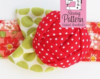 Rose Pincushion Cuff PDF Sewing Pattern | Make a wearable wristband bracelet flower pin cushion.