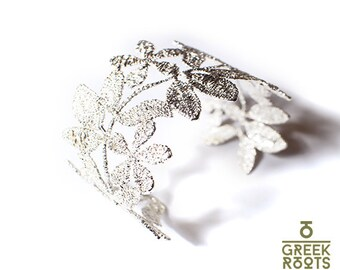 Jasmine Flower Sterling Silver Bracelet