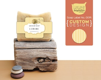 Custom Label Design - Soap band label No. 001R - make your works standing out.