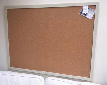 Huge cork pin board. Cork bulletin board. Cork wall planner. Cork message board. Framed cork board. Framed notice board. Framed pin board