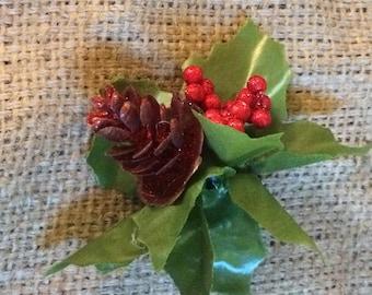 Cone pinup hair flower