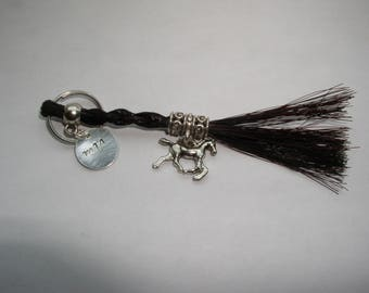 New! Horse hair key chain with charms