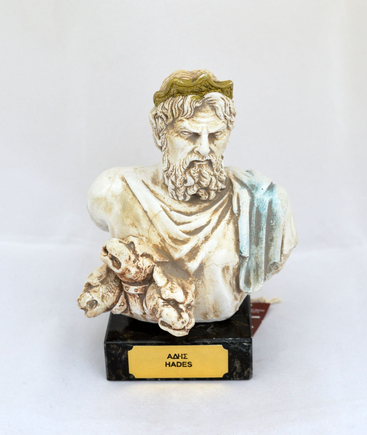 Hades oude Griekse God koning van de onderwereld sculptuur