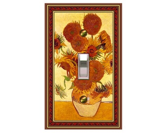 0574x  Van Gogh Sunflowers - mrs butler switch plate covers -