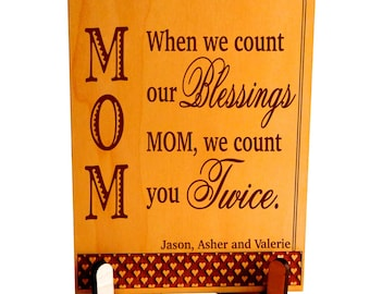 Mother's Day Gift - Gifts for Mom from Daughter - Son - Mothers Day Gift - Personalized - Plaque, PLM018