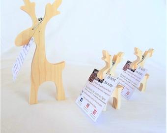 paper holder, put empty paper Pocket reindeer of natural pine wood, office decor