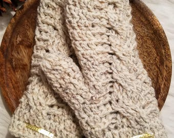 Cable Knit Mittens with Fleece Lining