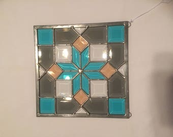 Bevel panel in turquoise