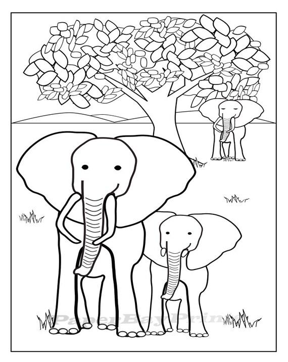 Elefant zeichnen zum Ausdrucken Malvorlagen für Kinder Bild