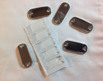 5 Blank Dog Tag Style Paracord Charms with Epoxy Stickers