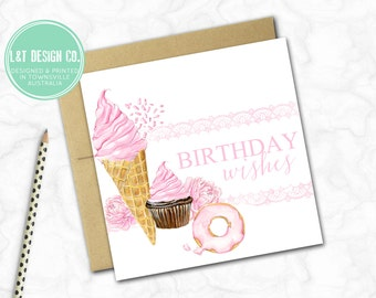Birthday Card {Pink Birthday Wishes}