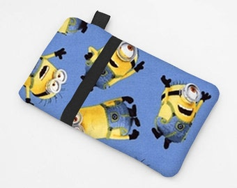 Kid's Phone Cases, iPhone Sleeves, Blue Samsung S6 Cases, Galaxy Note 6 Cover, Sony Xperia Z5 Compact Case - Minions in blue