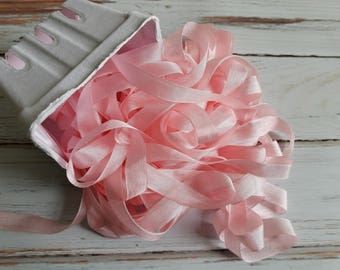 5 yards Baby Rosa Seam Binding. Verpackung, Scrapbooking, schäbig hübsche Verzierung
