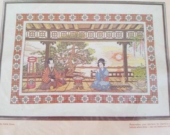 Vintage Paragon Stitchery Oriental Splendor Kit NOS Unopened Crewel