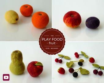 Felt Food – Waldorf/Montessori Toys – Nursery Décor – Birthday gift – Felting Video Tutorial/DIY – Instant Download