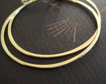 18k gold hoop earrings organic hoops rustic hammered matte patina - 18 karat solid gold hoops 1 inch & 1.5 inches