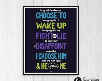 Divergent - Printable Wall Art - Love quote - Inspirational Quote - Valentine's Day Gift - Gift for Girlfriend - Instant download