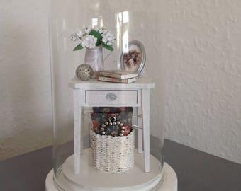 1ZU12 miniature scene in a small glass bell