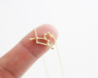 Leo Constellation Necklace Zodiac Sign Necklace Zodiac Jewelry Birthday Gift Zodiac Necklace