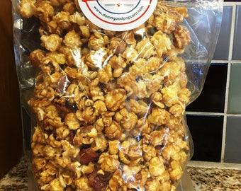 Gourmet Caramel Bacon Popcorn Small Batch Artisan Popcorn 16 oz Bag