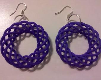 Spiral torus earring