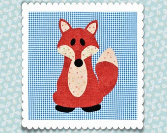 Little Fox Applique PDF Pattern