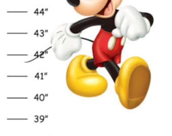 ON SALE Personalized Mickey Mouse Canvas Growth Chart