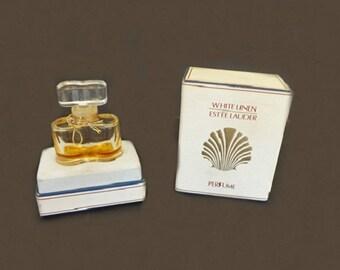 Vintage White Linen Perfume, Estee Lauder Fragrance, Vintage Fragrance, Bath and Beauty, Women's Fragrance, Refillable Perfume Bottle