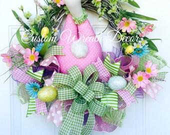 Easter Bunny Wreath, Bunny Butt Wreath, Bunny Bottom Wreath, Easter Grapevine Wreath, Spring Wreath