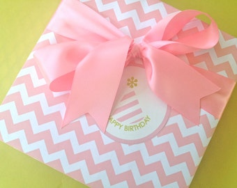 Pink Chevron Premium Wrapping Paper