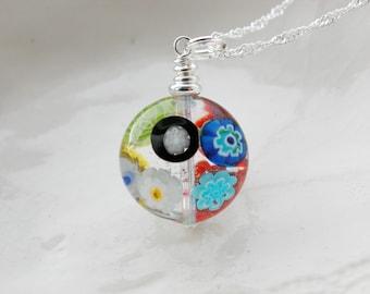 Murano Millefiori Glass Necklace