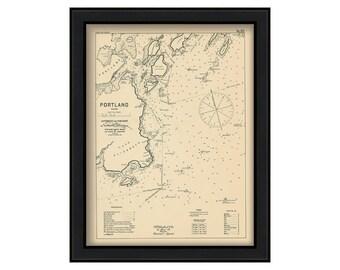 0455-Portland Harbor 1909 - Nautical Chart by Geo. Eldridge