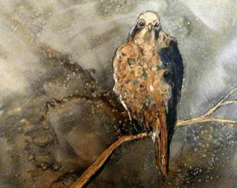 Hawk Original Painting with free shipping