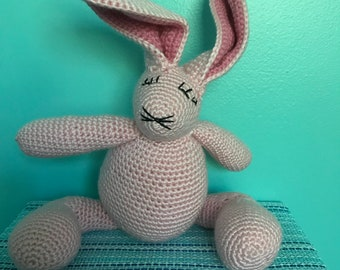 Bell the Bunny Crocheted Toy