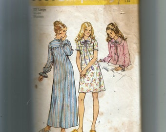 Simplicity Misses' Nightgown In Two Lengths and Bedjacket Pattern 5083