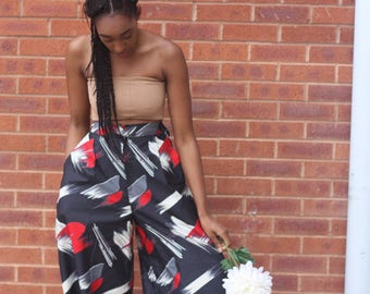 ANKARA 'AFRICAN PRINT' palazzo wide trousers