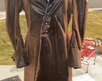 Faux Leather Pirate / steampunk  Frock coat