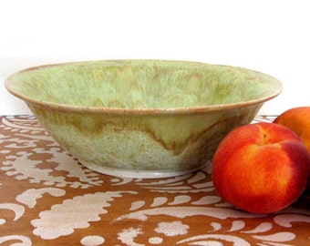 Large Bowl - 11 inch Serving Bowl - Ceramic Bowl - Fruit Bowl - Hand Thrown Stoneware Pottery - Ready to Ship