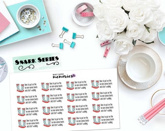 "SNARK SERIES: ""Time to put on the no nonsense boots"" Paper Planner Stickers!"